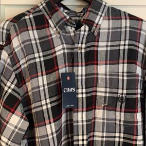 NWT Men's Chaps brushed flannel shirt LT